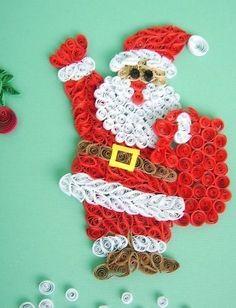 Дед Мороз квиллинг скачать бесплатно картинки