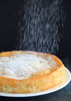 French Apple Cake - Part custard, part traditional cake and PACKED with apples! | https://www.browneyedbaker.com/french-apple-cake/