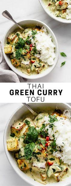 Thai Green Curry Tofu This Thai Green is an easy vegetarian recipe with authentic flavor. It& healthy and comes together in under 30 minutes! The post Thai Green Curry Tofu & Fitness-Food & Recipes (gesund & vegan) appeared first on Vegetarian recipes . Curry Vert Thai, Tofu Green Curry, Green Thai, Curry Sauce, Healthy Thai Green Curry, Authentic Thai Green Curry, Curry Food, Masala Sauce, Healthy Vegetarian Recipes