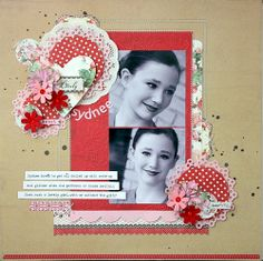 """""""She's So Lovely"""" Layout by Shellye McDaniel; Lovely Collection by #authentiquepaper"""