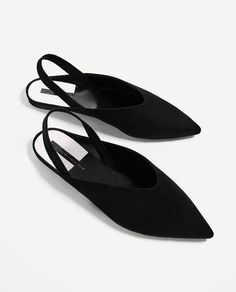ZARA - WOMAN - CONTRASTING FLAT SLINGBACK SHOES. @intentjewellery