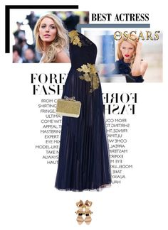 """""""Red Carpet: Blake Lively"""" by veronicamastalli ❤ liked on Polyvore featuring Gucci, Mikael Aghal, Giuseppe Zanotti and Christian Louboutin"""