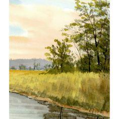 _watercolor_landscape_painting_original_river_creek_stream_sunset_d20c1c2b.jpg (500×500)