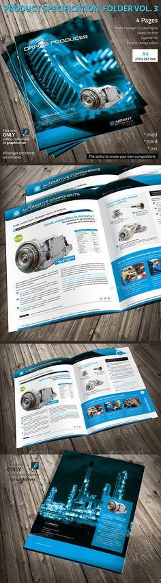 Product Specification Folder Template #design Download: http://graphicriver.net/item/product-specification-folder-vol3/10293742?ref=ksioks