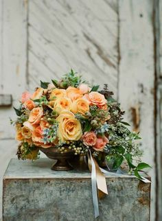 Rustic Chic Wedding Inspiration flowers