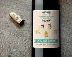 Bouteilles de vins Family Circus  Cadeaux personnalisés