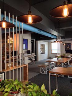 Design Office Interior | YellowSub Studio - The Architects Diary #minimal #interior #India #dinning #table #design #office