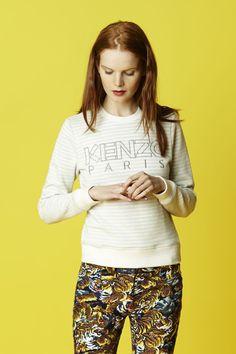 #Denim Women's KENZO Logo Sweatshirt