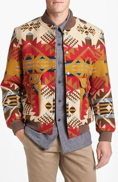 Pendleton 'Cascade' Wool Blend Baseball Jacket