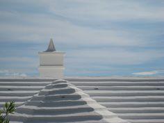 White Rooftops I, Bermuda, Original Colour Photograph by Suzanne MacCrone Rogers ~ via Italian Girl in Georgia: Cool Blues