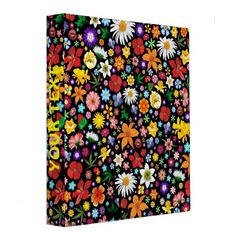 #Back to #School! with a #Colorful NEW #Binder!   ✿ #Spring and #Summer #Flowers #Binder ✿  http://www.zazzle.com/spring_and_summer_flowers_binder-127569786230845498