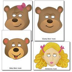 Masks - Goldilocks and the 3 Bears