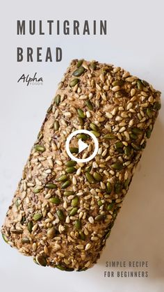 A simple multigrain bread recipe for beginners - A whole wheat and spelt bread recipe topped with seeds, using a simple process that's perfect for beginner bread makers! Healthy Bread Recipes, Ketogenic Recipes, Snack Recipes, Recipes With Bread, Simple Bread Recipe, Keto Recipes, Spelt Bread, Vegan Bread, Keto Bread