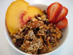 Homemade Granola Recipe ~ you don't have to have a food dehydrator to do this, you can bake it in your oven, easy!