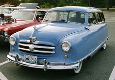1952 Nash Rambler Station Wagon in baby blue [1350 x 950] - see http://www.classybro.com/ for more!