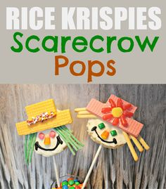Fab Fall Treat: RICE KRISPIES Scarecrow Pops | The Divine Miss Mommy