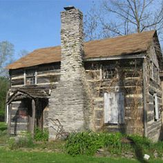 pictures of pioneer log cabins | Pioneer Log Cabin, Richmond, Indiana