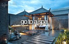 Yes! I'd love to make a day of it with massages, body wraps, masks, the whole bit.