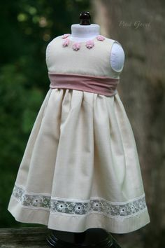 Silk dress for an 18 doll by PetitGosset on Etsy
