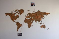 This beautiful cork-board map is great to mark all your travels around the World. The perfect gift for those who love to travel or enjoy decorating their spaces. With it´s unique cork texture you can chose yours from 3 amazing colors.  K E Y • F E A T U R E S ✓ Cork material map that will amaze everyone ✓ Included pins to mark the adventures you already experienced ✓ It has adhesive tape on the back of the map for easier application ✓ It has a assembly guide so you can do a correct and easy…
