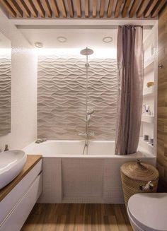 revêtement-mural-salle-bain-panneaux-3D-lambris-bois.jpg 800 × 1 110 pixels