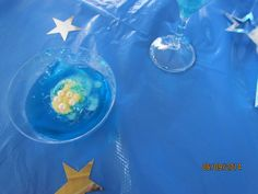 blue jelly..........for frozen birthday party