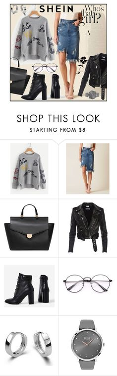 """Braided-Embroidery-Stepped-Hem-Jumper"" by sabina-mehic123 ❤ liked on Polyvore featuring Mustard Seed, MANGO, KENNY and BOSS Black"