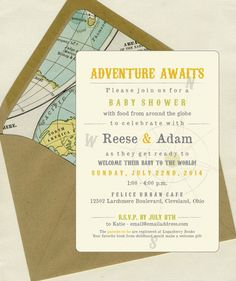 Welcome to the World Baby Shower Invites by bbinvitations on Etsy, $3.50