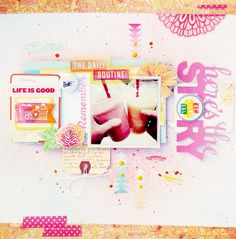 Bits and Pieces...: Recent Layouts #scrapbooking #amytangerine