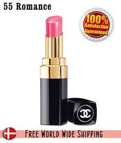 Coco CHANEL Rouge Shine Hydrating Lipstick 55 ROMANCE NIB Full size #CHANEL