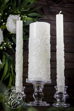 Attention, please do not buy if you have a wedding in April 2018. Vintage wedding Candles, Lace Unity Candle, Rustic wedding Unity Candle Set, Rustic wedding Ideas, Country wedding, Vintage Candle Set, 3pcs ♥♥♥♥♥♥♥♥♥♥♥ABOUT THIS ITEM♥♥♥♥♥♥♥♥♥♥♥ ♥THIS ITEM FOR : - 2 tall tapers - 1