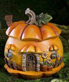 Love this Miniature Fairy Garden Pumpkin House Figurine by Plow & Hearth on #zulily! #zulilyfinds