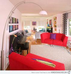 15 Ravishing Red Living Room Furniture | Home Design Lover