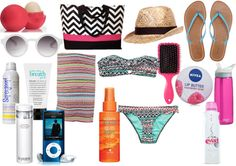 """beach bag essentials"" by simonealexxandra on Polyvore"