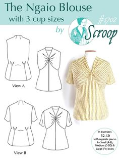 The Ngaio Blouse by Scroop Patterns