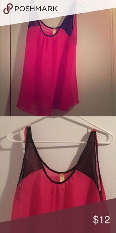 8725a2d68774e Francesca s pink tank Pink sheer tank top. Size m Francesca s Collections Tops  Tank Tops Sheer