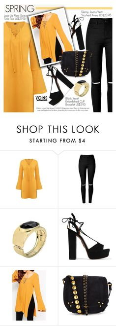 """Yoins 21: Early Spring"" by pokadoll ❤ liked on Polyvore featuring moda, Aquazzura, Jérôme Dreyfuss, women's clothing, women, female, woman, misses, juniors y yoins"