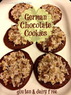 Allergy-friendly german chocolate cookies (since we don't do coconut, just make the chocolate wafers)
