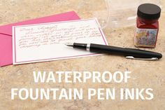 Waterproof+Fountain+Pen+Inks