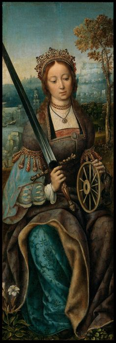 Master of Frankfurt - Saint Catherine of Alexandria. 1510 -1520