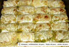 Göngyölt kelkáposzta Hungarian Recipes, Hungarian Food, Spanakopita, Cooking Time, Food Inspiration, Casserole, Paleo, Food And Drink, Meat