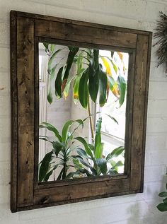 Renewed Décor DARK WALNUT 24' x 30' Herringbone Reclaimed Wood Mirror 1 DAY SHIPPING - Large Wall Mirror - Rustic Modern Home - Home Decor - Mirror >>> Learn more by visiting the image link. (This is an affiliate link) #Mirrors