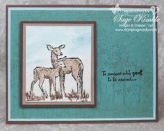 "Make a handmade card to show you care, using ""In the Meadow"" stamp set.  Great image for watercoloring, and the perfect sentiment!"