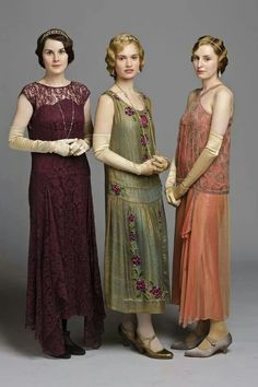 Downton Abbey (2010 - 2015) - Michelle Dockery, Lily James, & Laura…