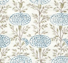 Samode Indigo on Oyster  hand printed on 100% Natural Linen