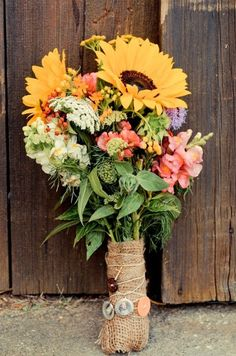 Cute sunflower bouquet