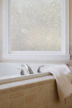 Artscape Window Film To Beautify Your House Window: Cool Artscape Window Film For Bathroom Privacy Decor Frosted Glass Texture, Window Films, Home Wallpaper, Glass Design, Windows, Paisley, Basement Bathroom, Bathroom Ideas, Shower Ideas