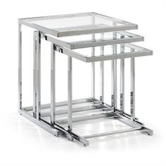 Bijzettafel Bliar 50 / 45 / 40 x 50 / 45 / 40 x 55 / 50 / 45 Clear Glass, Metal La Forma Buy Coffee Table, Modern Coffee Tables, Modern Table, Living Room Furniture Online, Sofa Furniture, Living Room Decor, Dining Suites, Design Tisch, Glass Side Tables