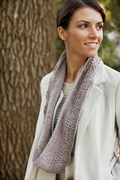 This pretty loop scarf is a great project for beginning lace knitters, or a relaxing and intuitive pattern for those with more experience. It uses less than one skein of yarn and is a great last-minute gift idea. The lace pattern at the base of the knitted loop forms gentle scallops, and two bands of …