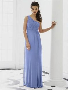 Awesome periwinkle bridesmaid dress